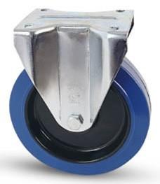 Elasztikus gumis kerék fix villa 100 mm fix villa