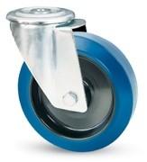 Elasztikus gumis kerék hátfuratos villa 100 mm