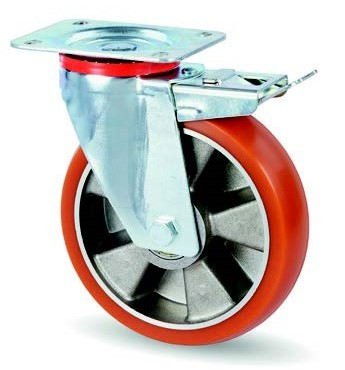 AVP kerék lekerekített futófelülettel forgó-fékes villa 160 mm