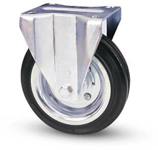 tömörgumis kerék fix villával 80mm