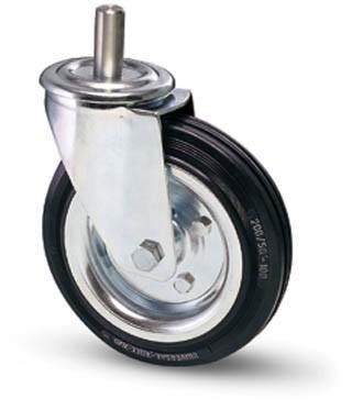 tömörgumis kerék csapos villa 100 mm