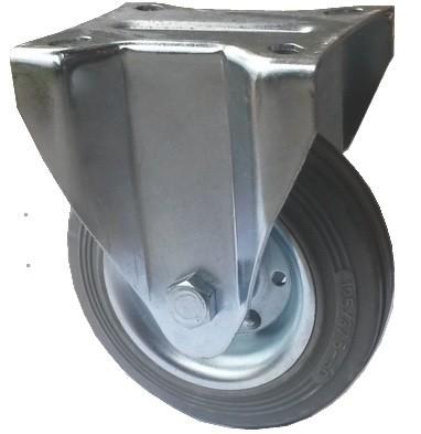 szürke tömörgumis kerék fix villával