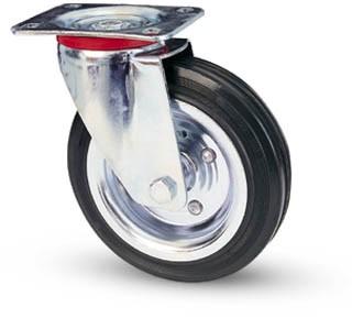 tömörgumis kerék forgó villa 200 mm