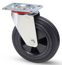tömörgumis kerék forgó villa 125 mm
