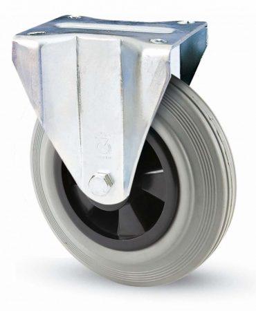 INOX szürke tömörgumis fix villa 100 mm