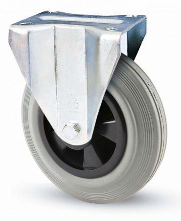INOX szürke tömörgumis fix villa 125mm