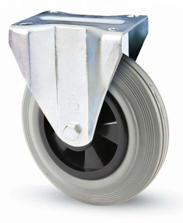 INOX szürke tömörgumis fix villa 125 mm