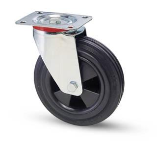 tömörgumis kerék forgó villa 100 mm