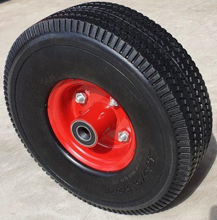 """molnárkocsi kerék TÖMÖR golyóscs.(10""""x4.1/3.5-4)"""