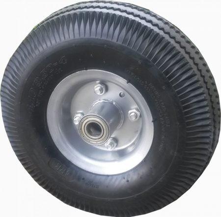 """molnárkocsi kerék felfújható golyóscs.(10""""x4.1/3.5-4) 20mm tengely"""