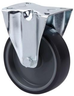 szürke gumis nyommentes kerék fix villában 80mm