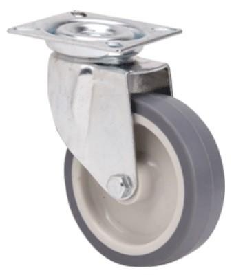szürke nyommentes kerék 100 mm (forgó)
