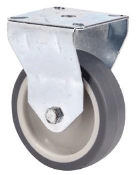 szürke nyommentes kerék 100 mm (fix)