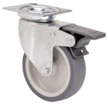 szürke nyommentes kerék 100 mm (fékes)