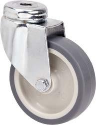 szürke nyommentes hátfuratos kerék forgó villában 60mm