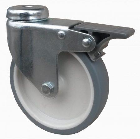 szürke nyommentes kerék hátfuratos-fékes villával 100mm