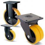 Öntöttvas kerék PUR futófelülettel (1300-5000 kg)