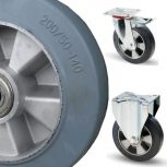 Alumínium kerék elasztikus gumival (300-500  kg)