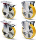 Aluminium kerék sárga poliuretán futófelülettel